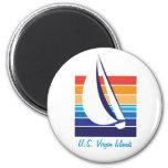 Boat Color Square_U.S. Virgin Islands Fridge Magnets