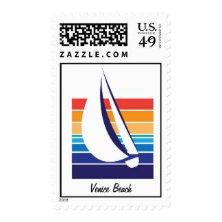 Boat Color Square_Venice Beach postage