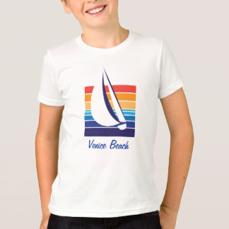 Boat Color Square_Venice Beach T-Shirt