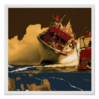 Boat Crossing High Tides Print