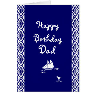 Boat: Dad's birthday Card
