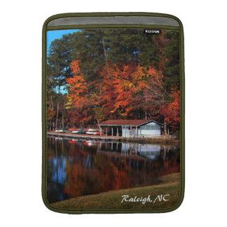 Boat Dock in Autumn MacBook Air Sleeve