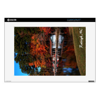 Boat Dock in Autumn Skin Decals For Laptops