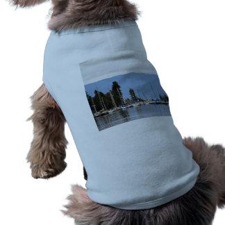 Boat Dock on Flathead Lake Dog T Shirt