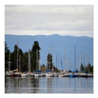 Boat Dock on Flathead Lake Poster