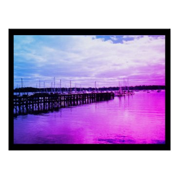 Beach Themed Boat Dock Poster