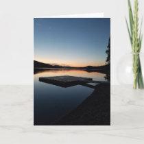 Boat Dock Sunset Swan Lake Montana Card