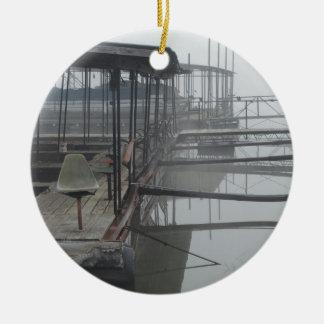 Boat Docks in the Lake of The Ozarks Ceramic Ornament