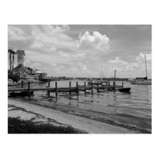 Boat Docks with Bridge Street Clock Tower Postcard