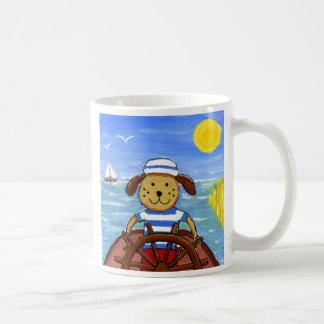 Boat dog coffee mugs
