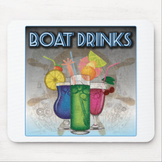 Boat Drinks Mouse Pad