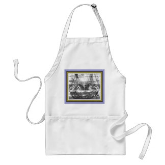 Boat Engraving #1 Adult Apron
