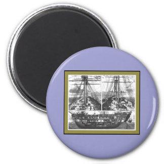 Boat Engraving #1 Magnet