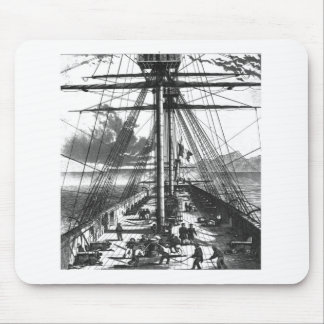 BOAT ENGRAVING #2 MOUSE MATS