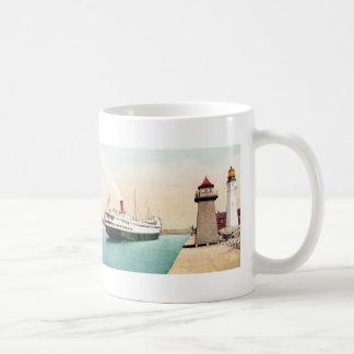 Boat Entering Harbor, Buffalo, New York 1904 Classic White Coffee Mug