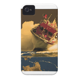 BOAT facing HIGH TIDES iPhone 4 Case