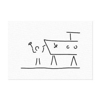 boat farmer ship dry dock canvas print