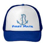 Boat First Mate Baseball Cap Mesh Hat