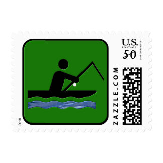 Boat Fishing Postage