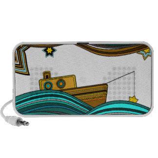 Boat fishing stars iPod speakers