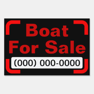 Boat For Sale Small Yard Sign