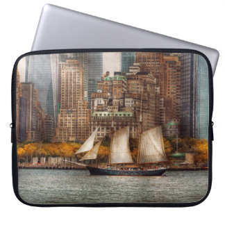 Boat - Governors Island NY - Lower Manhattan Laptop Computer Sleeve