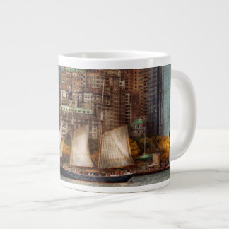 Boat - Governors Island, NY - Lower Manhattan Large Coffee Mug