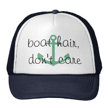 EHPDesigns boat hair, don't care, messy hair cruise hat