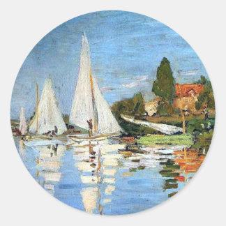 Boat Harbor Fine Art by Monet Sticker