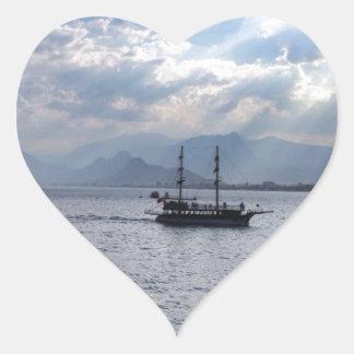 Boat Heart Sticker
