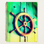 "Boat Helm Planner<br><div class=""desc"">This planner has a cool boat helm on it.</div>"