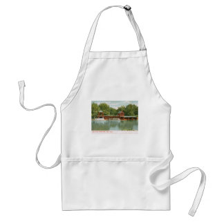 Boat House, Central Park, New York City 1918 Vinta Adult Apron