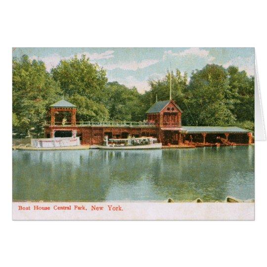 Boat House, Central Park, New York City 1918 Vinta Card