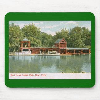 Boat House, Central Park, New York City 1918 Vinta Mousepads