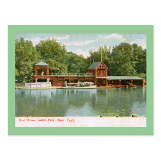 Boat House, Central Park, New York City 1918 Vinta Postcard