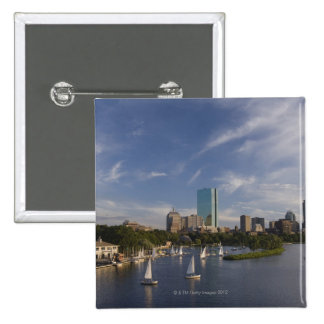Boat house in the Charles River in The Esplanade 2 Inch Square Button
