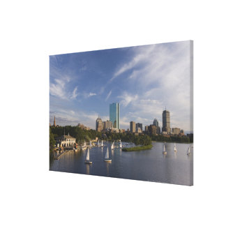 Boat house in the Charles River in The Esplanade Canvas Print