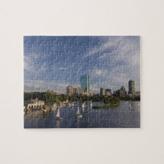 Boat house in the Charles River in The Esplanade Jigsaw Puzzles