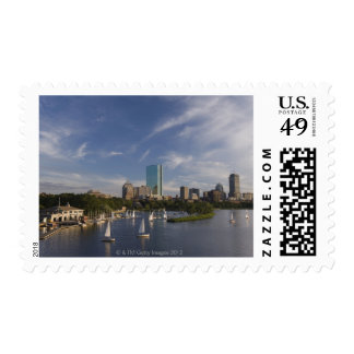 Boat house in the Charles River in The Esplanade Stamps