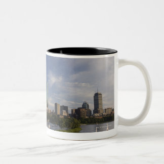 Boat house in the Charles River in The Esplanade Two-Tone Coffee Mug