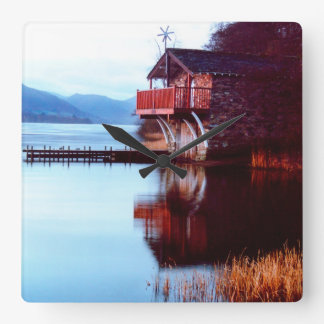 Boat House on Ullswater Wall Clock