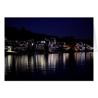 Boat House Row Greeting Cards