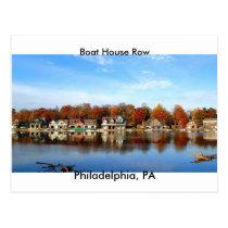 Boat House Row, Philadelphia, PA postage stamp Postcard