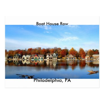 nwillens Boat House Row, Philadelphia, PA postage stamp Postcard