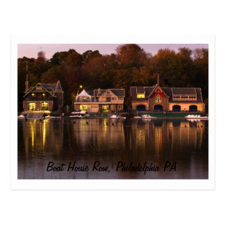 Boat House Row, Philadelphia PA Postcard