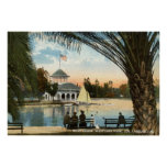 Boat House, Westlake Park Los Angeles 1914 Vintage Posters