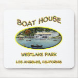 Boat House Westlake Park Mouse Pads