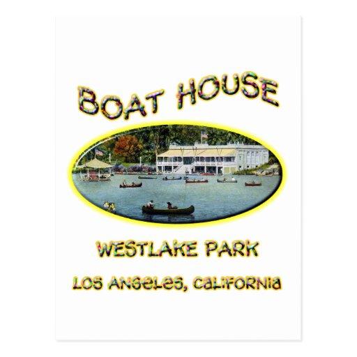 Boat House Westlake Park Postcard
