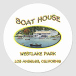 Boat House Westlake Park Stickers