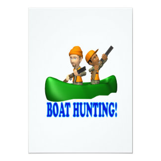 Boat Hunting 5x7 Paper Invitation Card